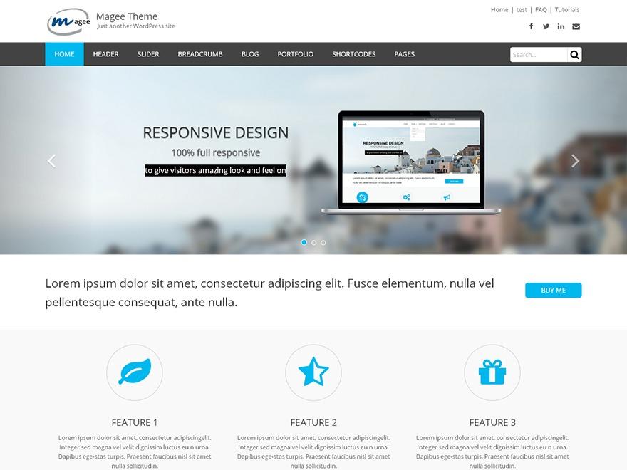 Magee personal blog WordPress theme