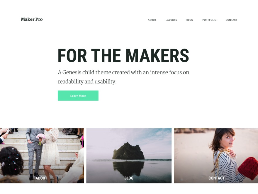 Maker Pro WordPress website template