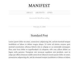 Manifest best WordPress theme