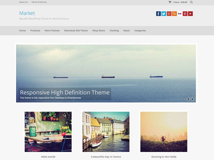 Market theme free download