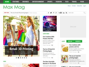 Max Mag Theme best WordPress magazine theme