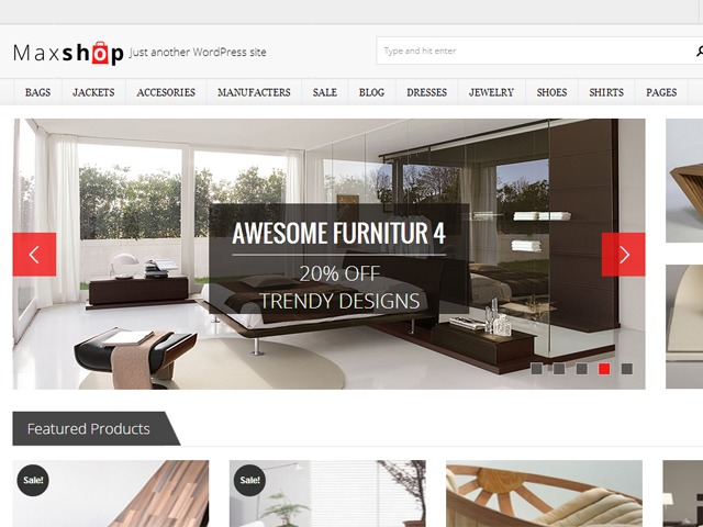 Maxshop WordPress shop theme