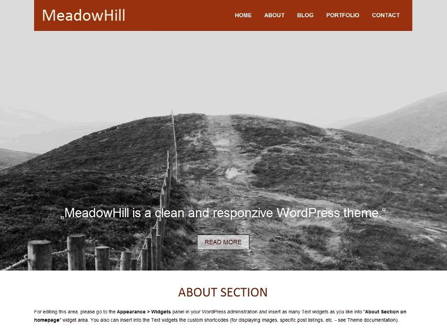 MeadowHill WordPress portfolio template