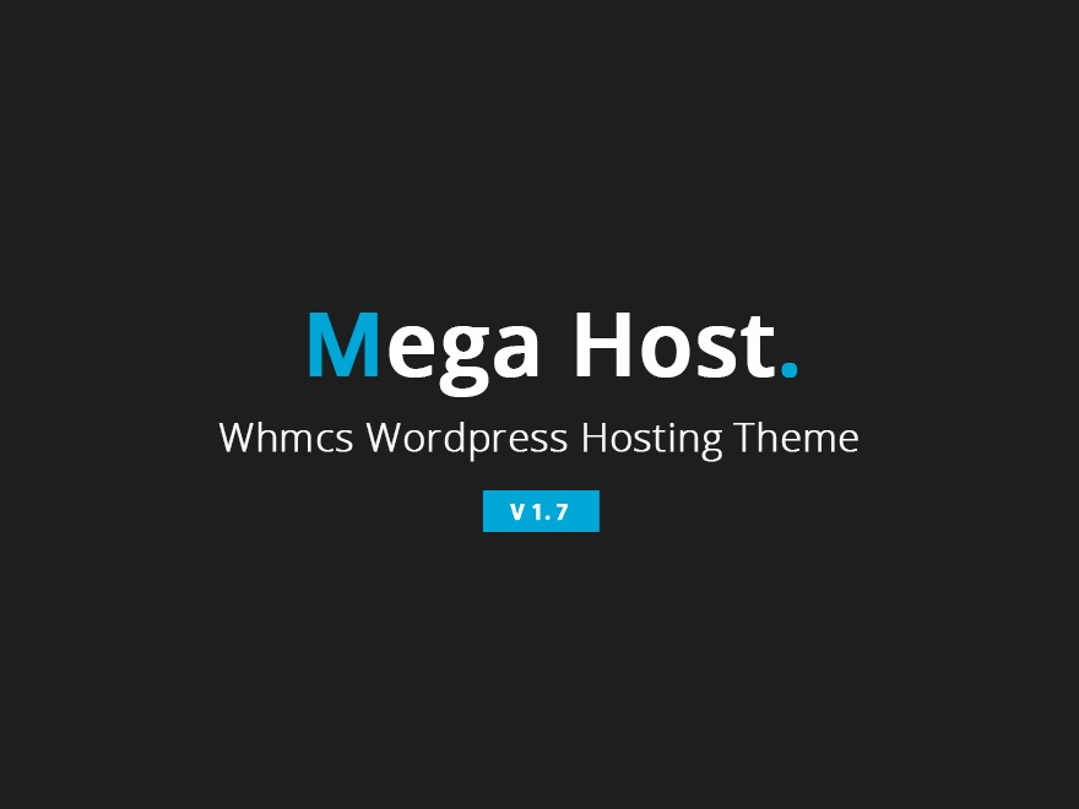 MegaHost company WordPress theme