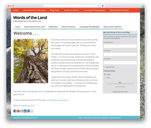 MesoColumn free WP theme - wordsoftheland.com