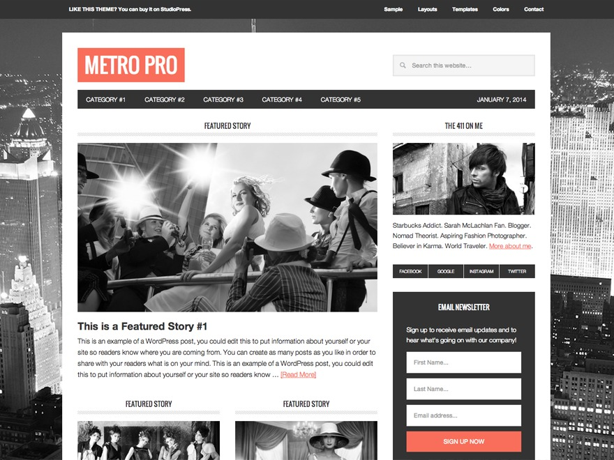 Metro Pro Theme best WordPress template