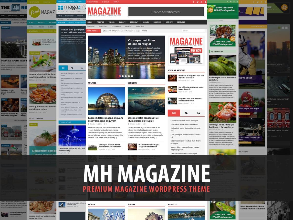 MH Magazine Child Theme newspaper WordPress theme
