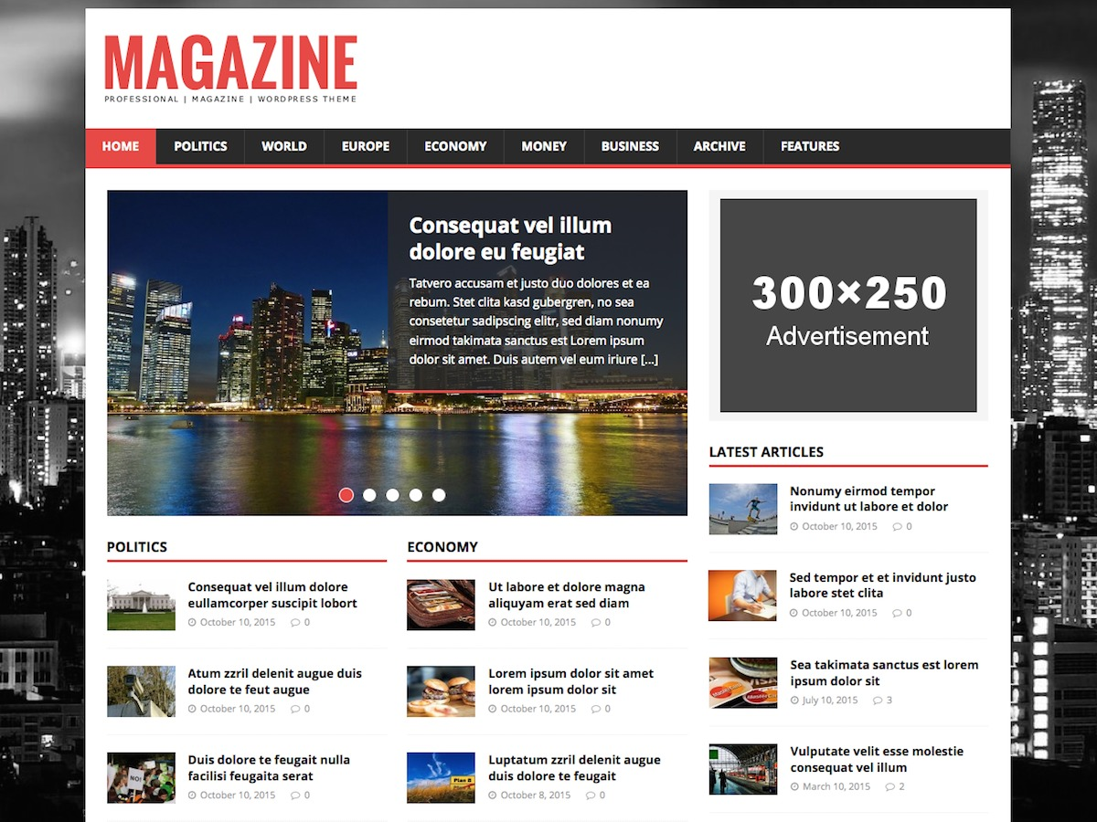 MH Magazine lite newspaper WordPress theme