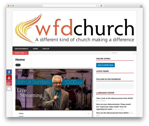 Free WordPress WP Embed Facebook plugin - wfdchurch.com