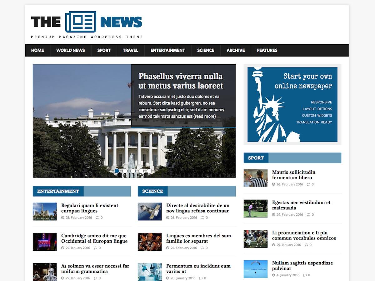 MH NewsMagazine WordPress free download