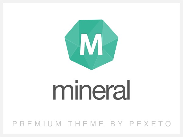 Mineral WordPress page template