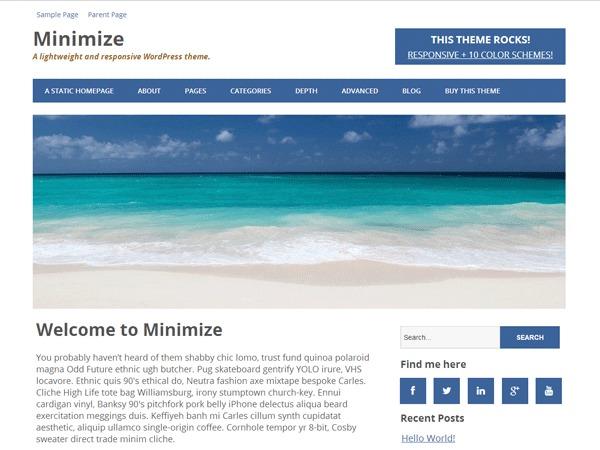 Minimize WordPress blog template