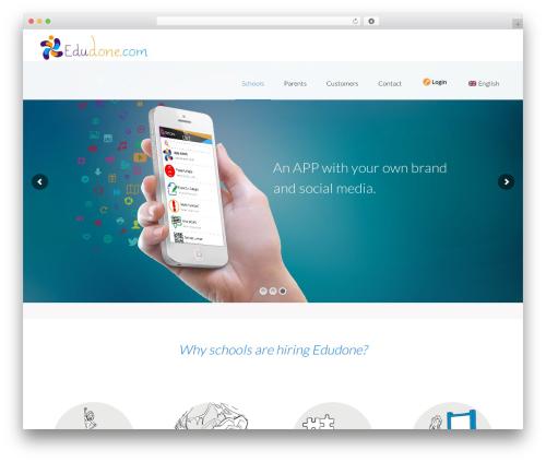 Mobera best WordPress theme - web.edudone.com