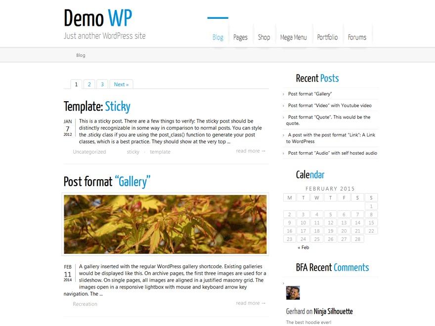 Montezuma WordPress theme