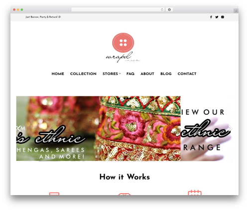 Mr. Tailor WordPress ecommerce template - wrapd.in