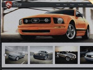 Mustang WordPress website template