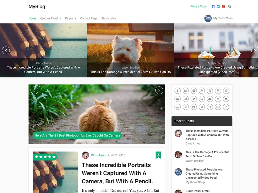 MyBlog by MyThemeShop best WooCommerce theme