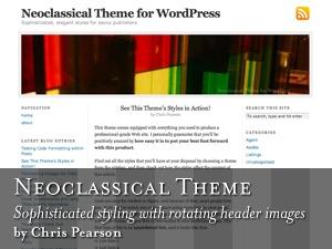 Neoclassical template WordPress