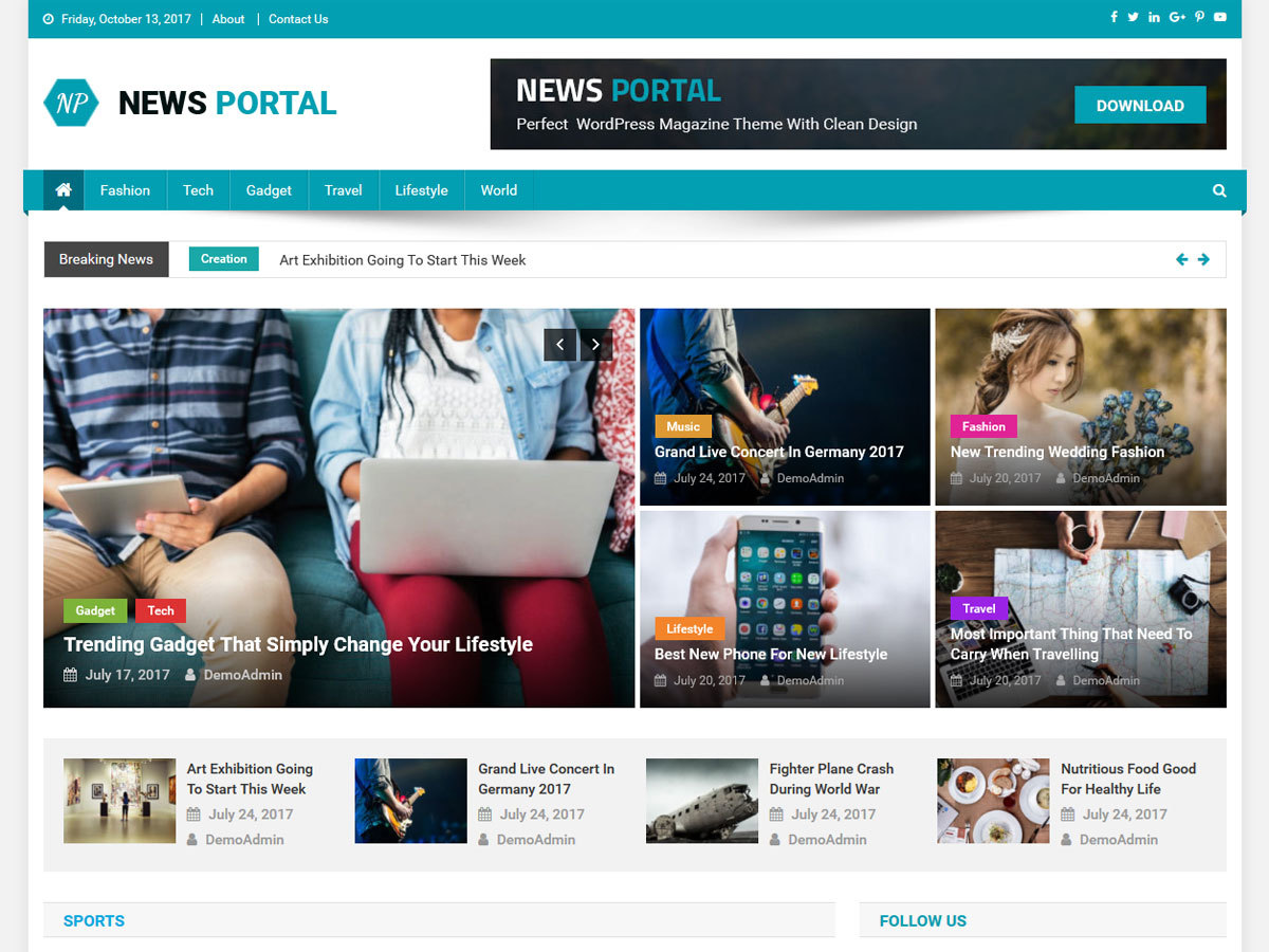 News Portal WordPress news theme