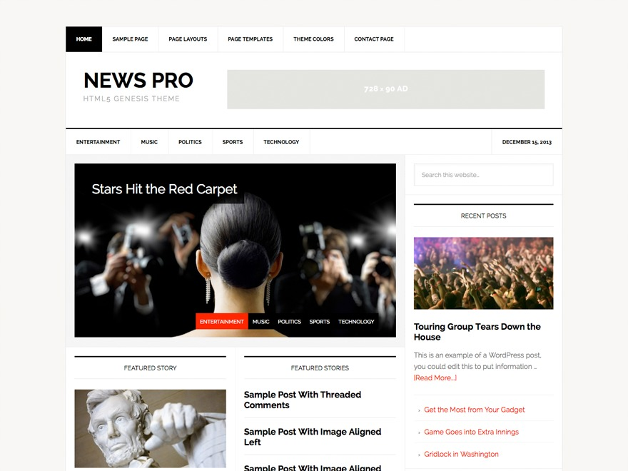 News Pro Theme WordPress magazine theme
