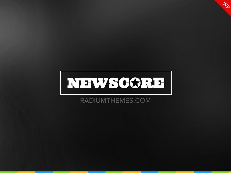 Newscore WordPress magazine theme