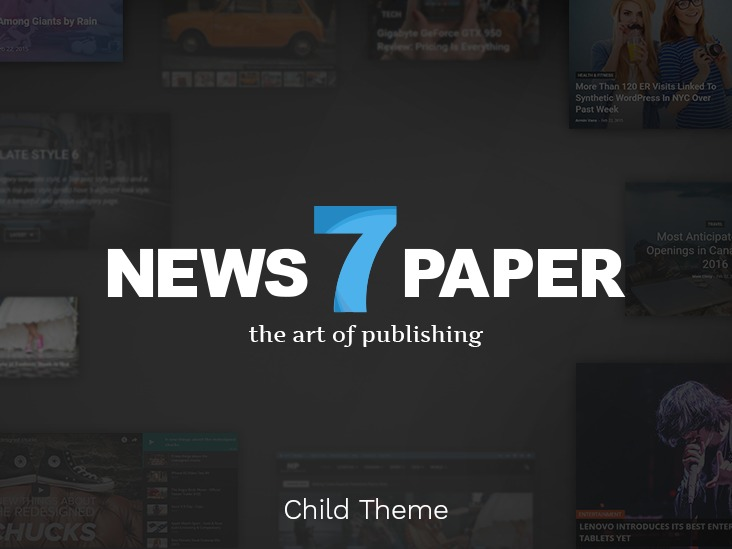 Newspaper 7 Child theme WordPress news theme
