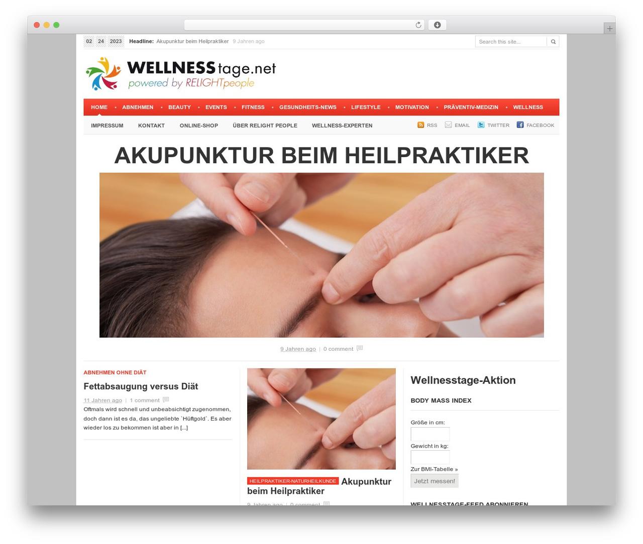 Newspaper WordPress blog theme - wellnesstage.net
