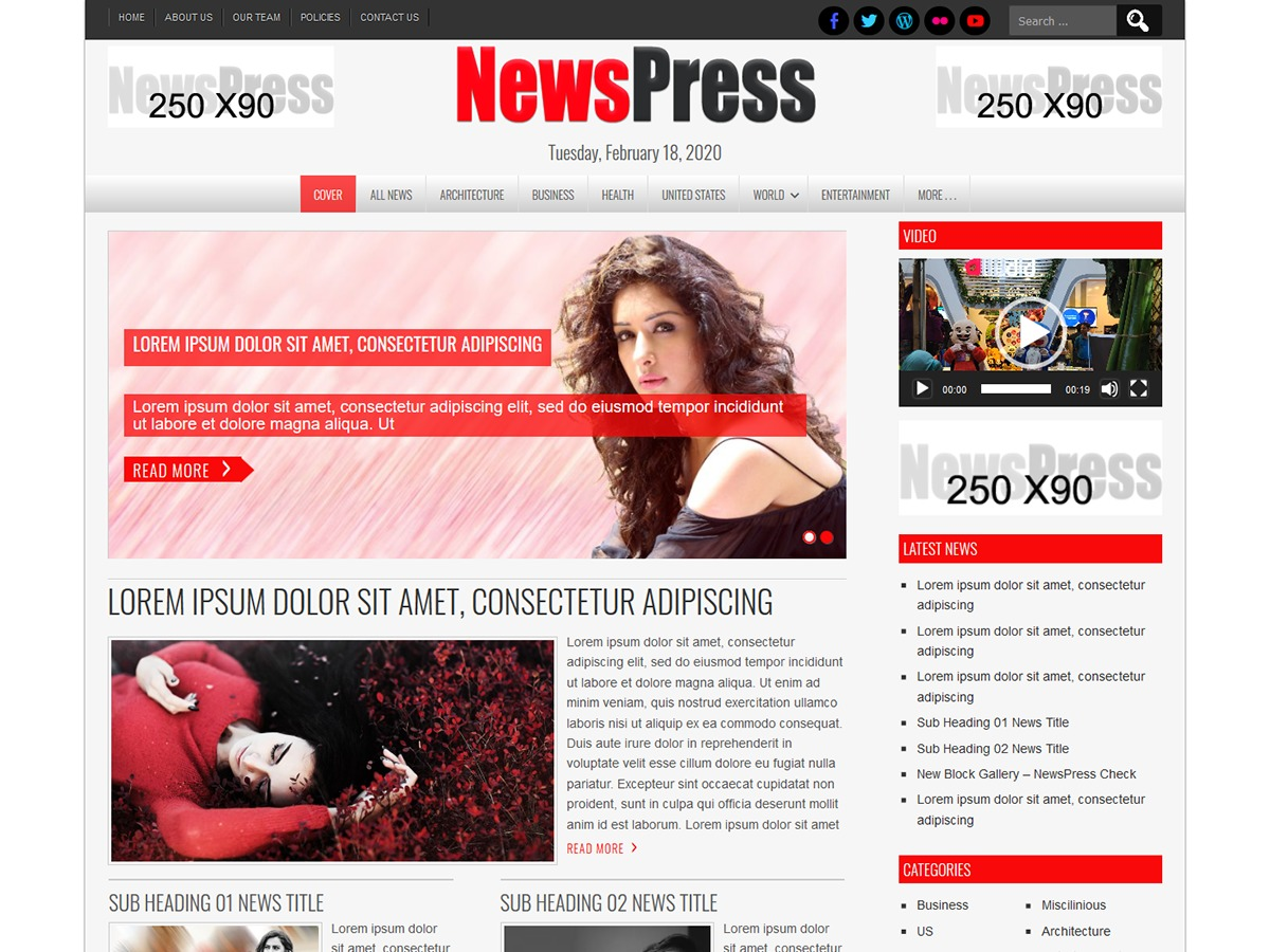 NewsPress Lite WordPress theme free download
