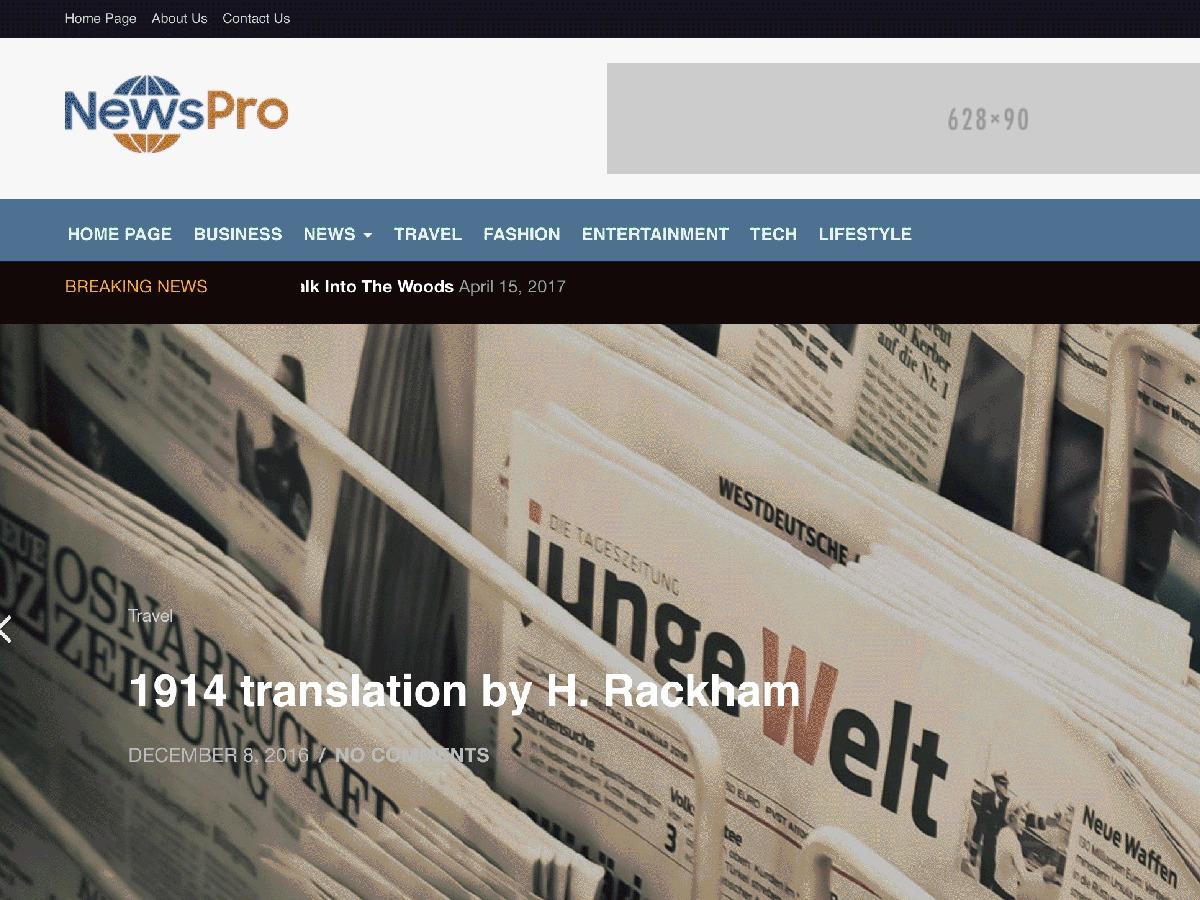 newspro free WP theme