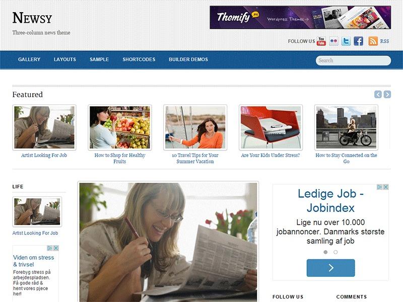Newsy best WordPress magazine theme