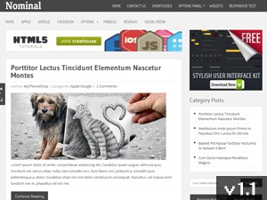 Nominal best WordPress magazine theme
