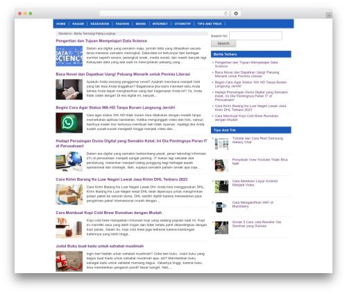 Nyeo Wordpress Theme WordPress theme - wantekno.com