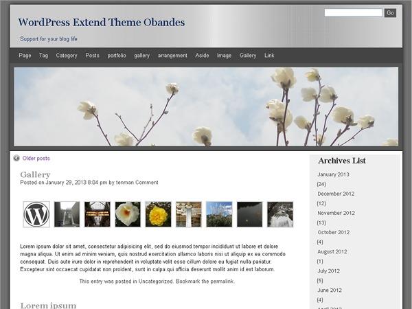 obandes WordPress blog template