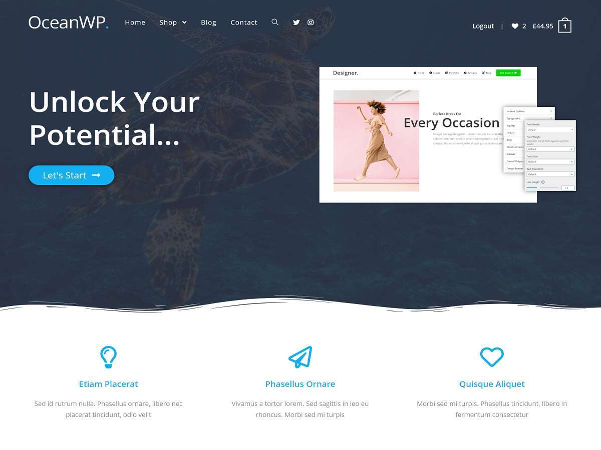 OceanWP WordPress template free download