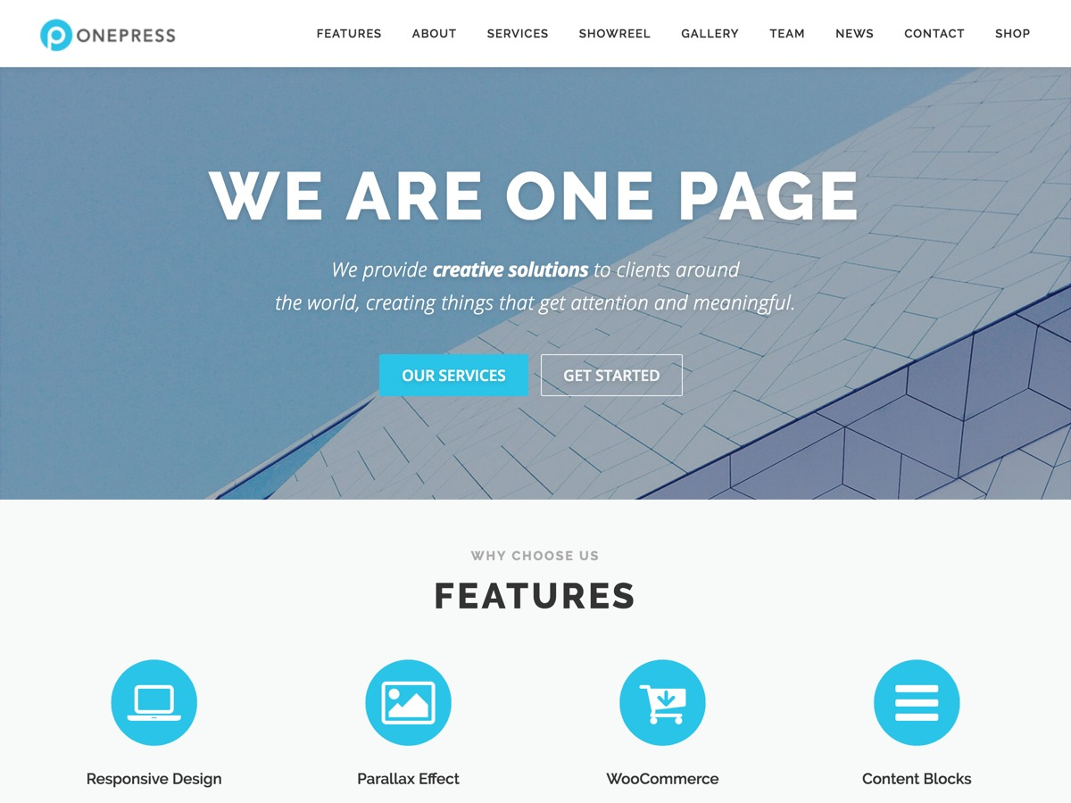 OnePress Free WordPress Themes Download