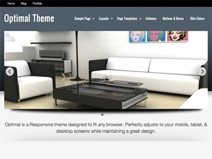 Optimal free WordPress theme