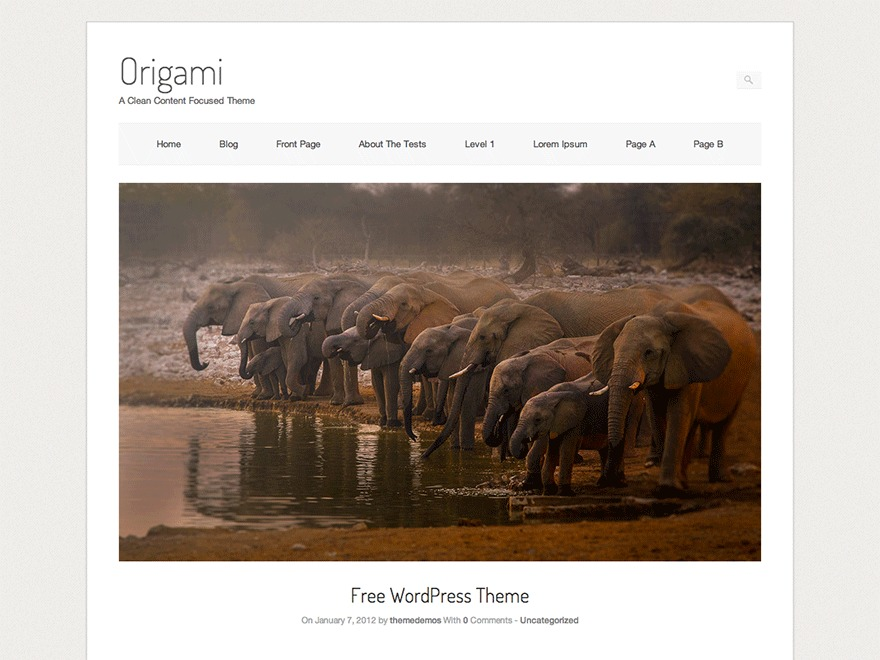 Origami WordPress photo theme