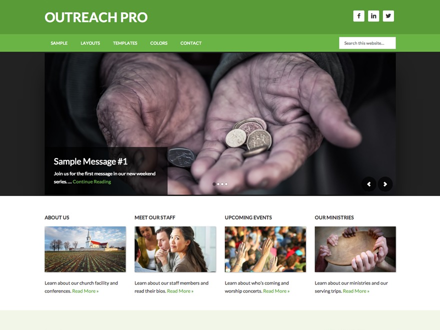Outreach Pro best WordPress template