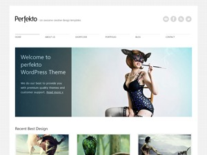 Perfekto WordPress photo theme