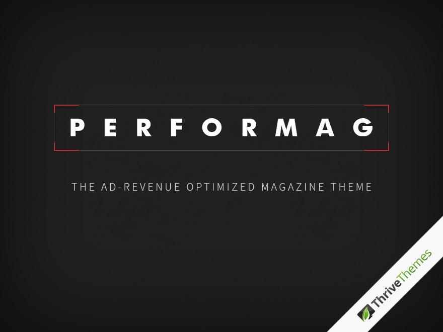 Performag WordPress news theme