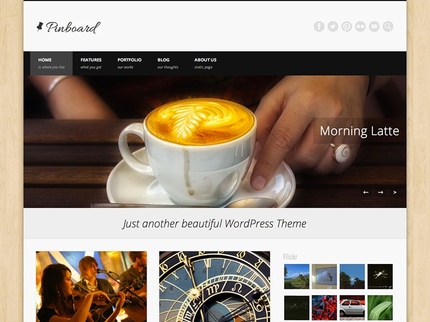 Pinboard WordPress video theme