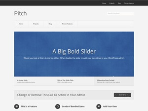 Pitch best free WordPress theme