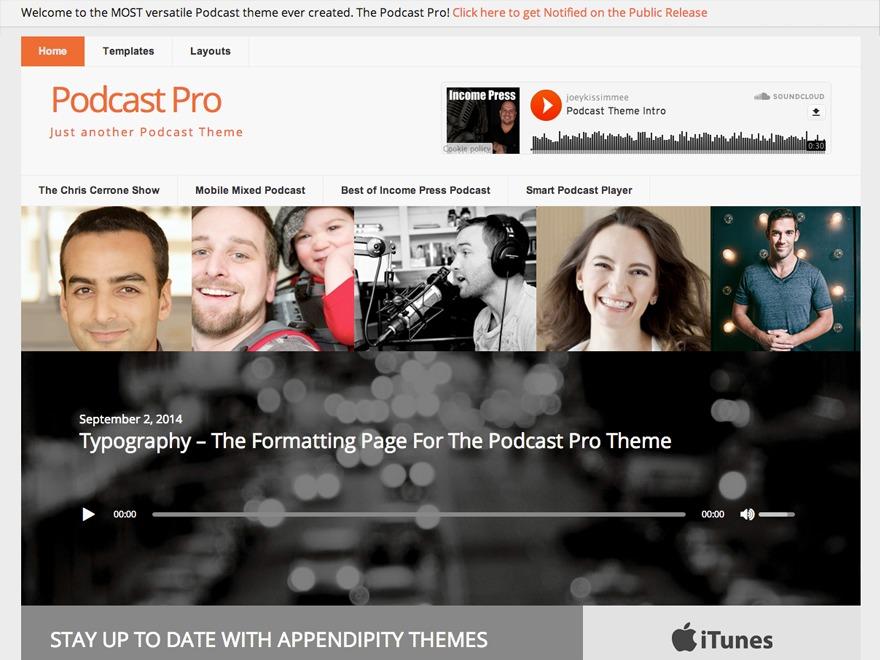 Podcast Pro Theme WordPress theme
