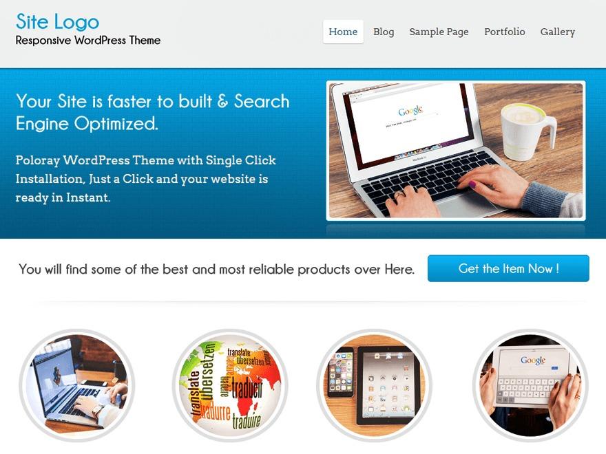 Poloray best free WordPress theme