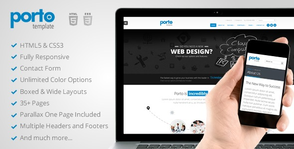 Porto WordPress portfolio theme