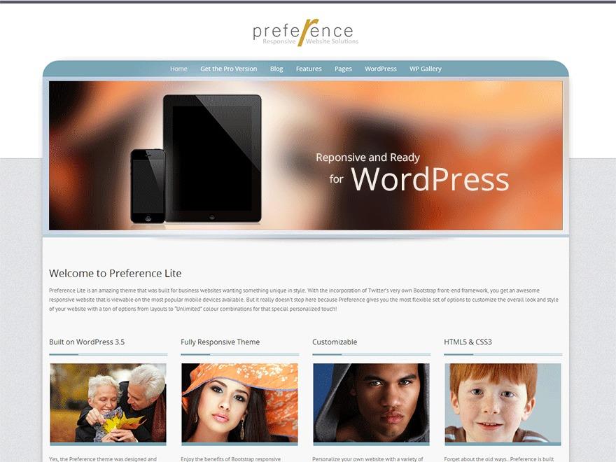 Preference Lite wallpapers WordPress theme