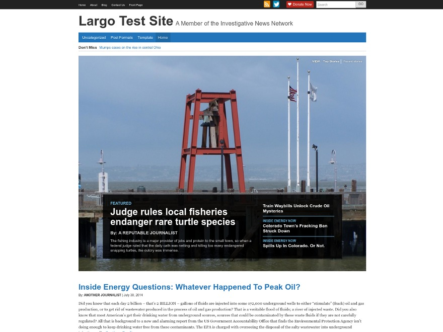 Project Largo - Base Theme WordPress news theme
