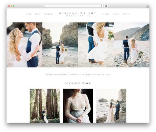 ProPhoto 6 WordPress wedding theme - winsomeandwright.com