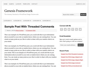 Prose WordPress blog template