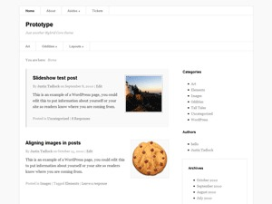 Prototype theme WordPress